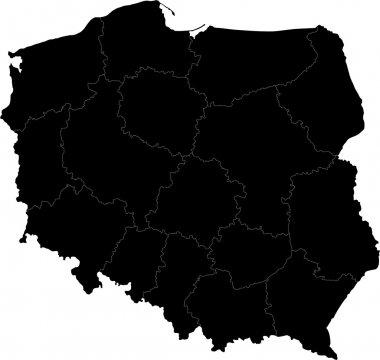 Black Poland map