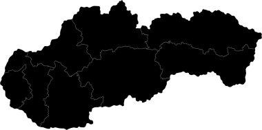 Black Slovakia map