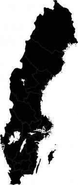 Black Sweden map