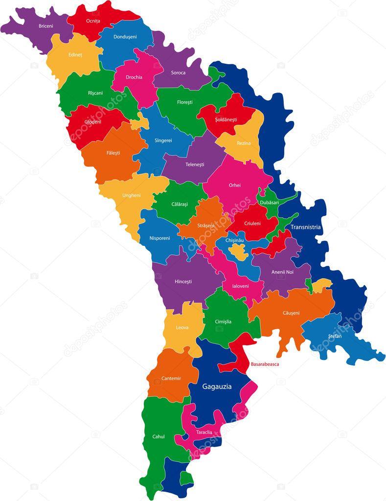 モルドバの地方行政区画