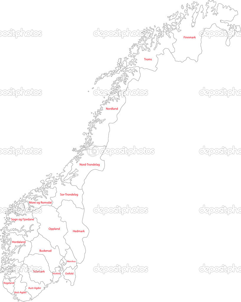 Norway Stock Vector Volina 1173009