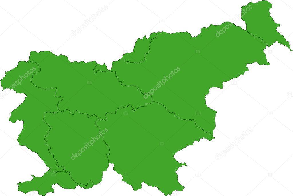 Slovenia Map Stock Vector Volina - Slovenia map download