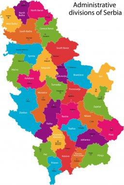 Vector Serbia map