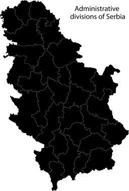 Black Serbia map