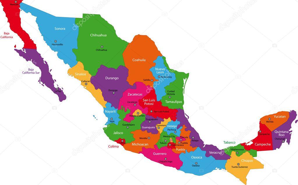 メキシコ地図 ストックベクター volina 1205356