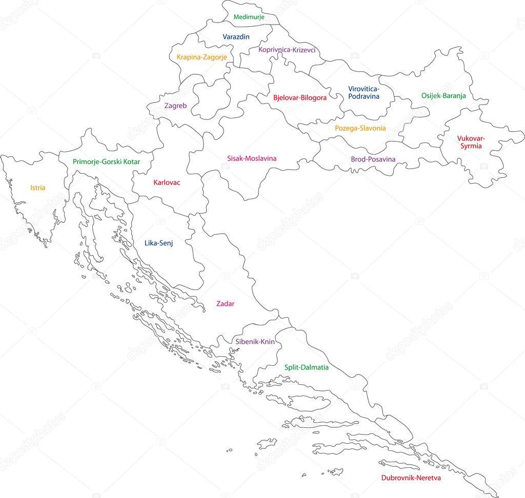 Croatia map — Stock Vector © Volina #1206660