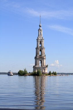 The belfry among water