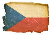 staré České vlajky, izolované na bílém pozadí