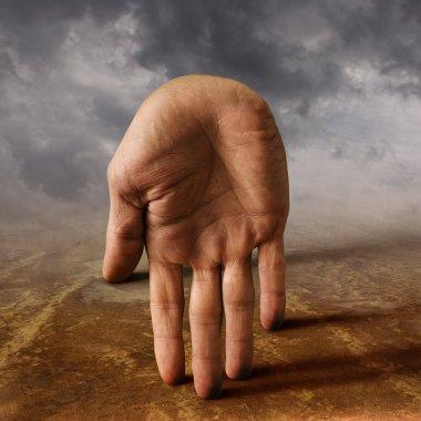 Surreal hand
