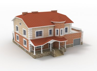 3d model of living house