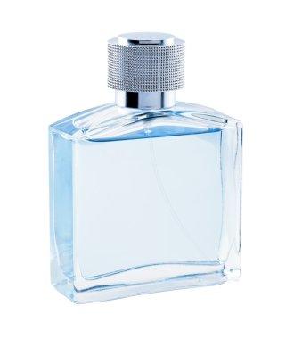 Perfume. Bottle spray blue color