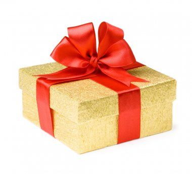 Gold box stock vector
