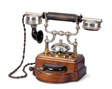 The old-fashioned retro telephone