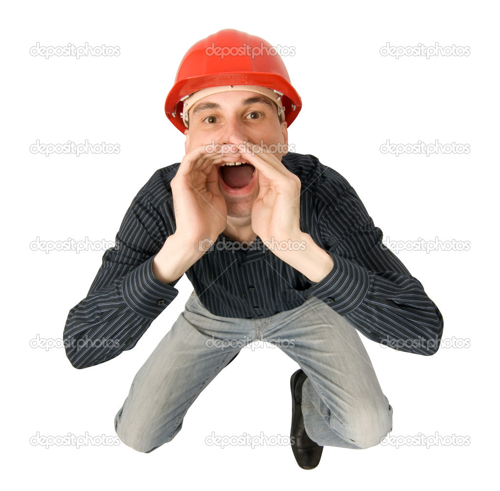 Worker screaming