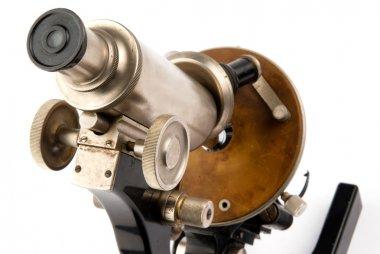 Old microscope closeup