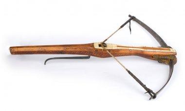 A drawn crossbow