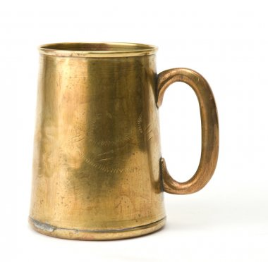 Old brass cup