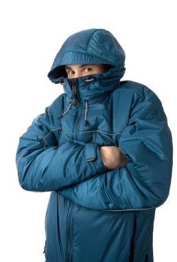 Man freezing
