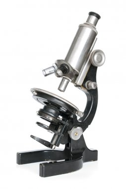 Old optical microscope