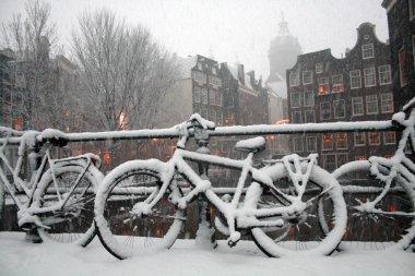 Amsterdam Winter Scene