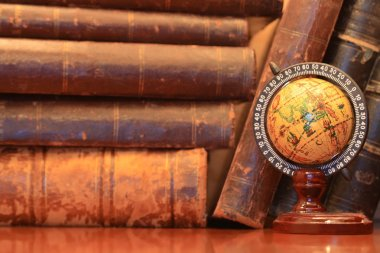 Old Books And Globe