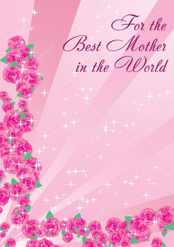 Für Die Beste Mutter Der Welt Stockvektor Marketolya 1914525