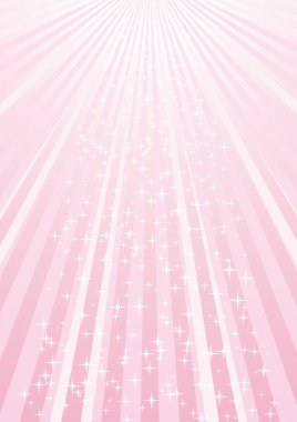 Abstract pink background with strips and stars, vector illustration clip art vector