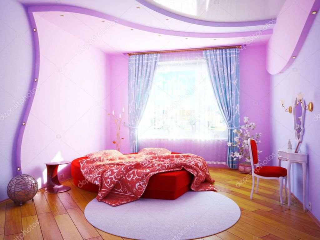Interior Of A Bedroom For The Girl Stock Photo Rashch