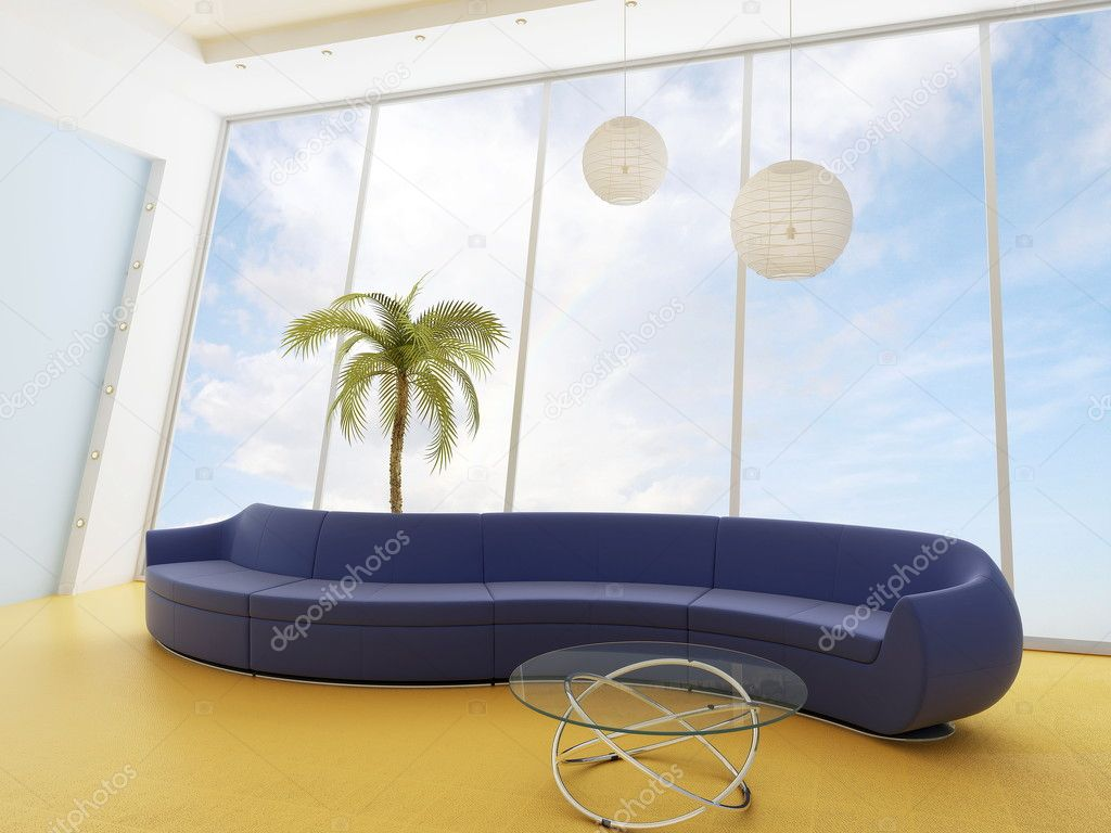 Sofa in a modern interior