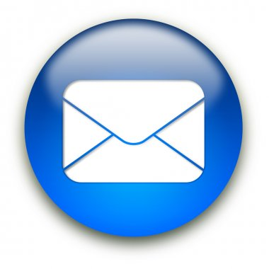 Mail envelope icon button