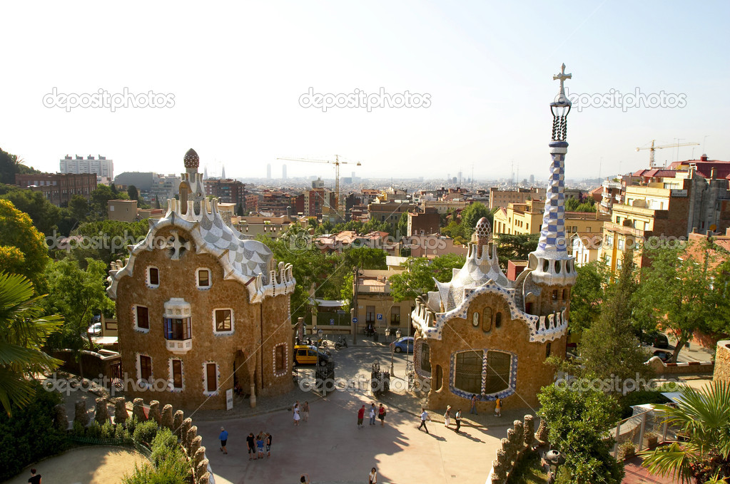 A view to Guell Park