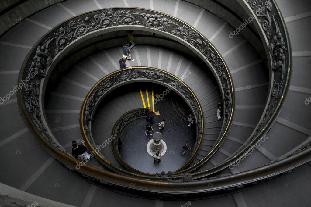 escaliers en spirale au vatican photo ditoriale grublee 1084581. Black Bedroom Furniture Sets. Home Design Ideas