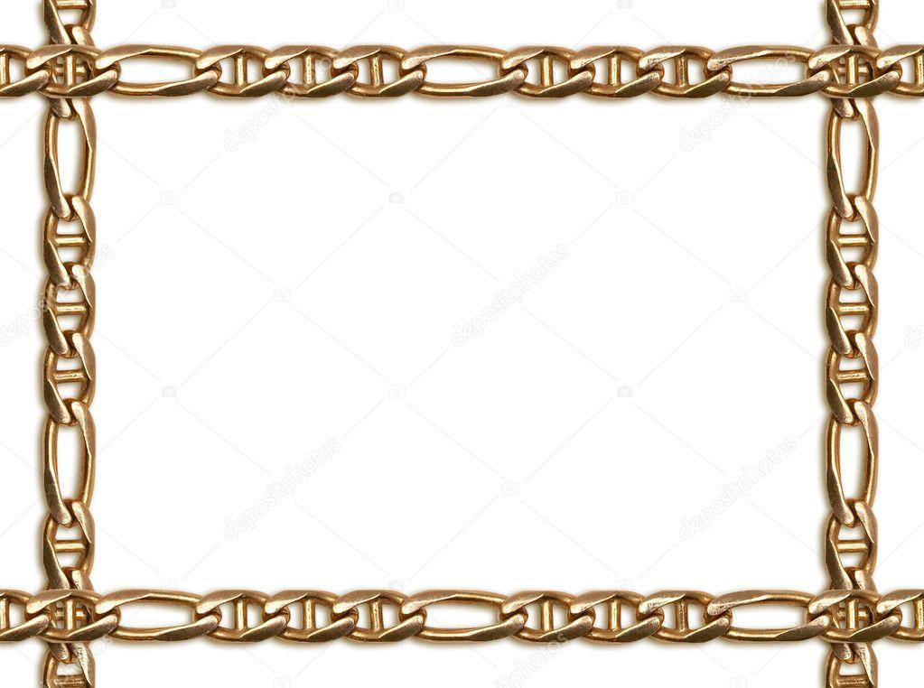 marco de cadena de oro — Fotos de Stock © grublee #1085943