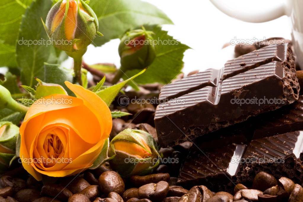 Chocolate, coffee, cinnamon and yellow f