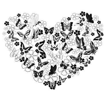 Valentine from butterflies