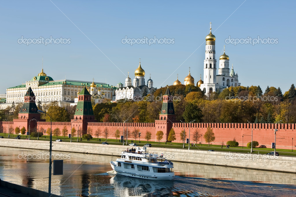 The Kremlin wall, Moscow