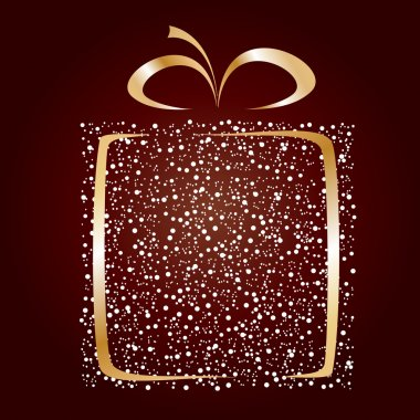 Stylized gift vector clip art vector