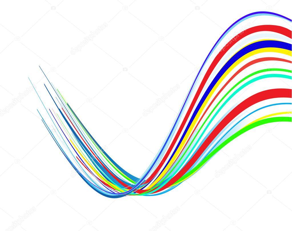 Colour Line Art Design : Abstract colour lines vector illustrati — stock