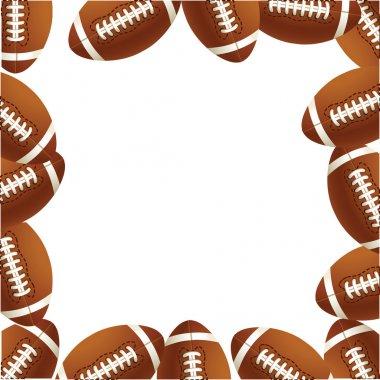 Rugby footballs of balls.Vector illustr