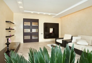 Modern Drawing-room interior in warm