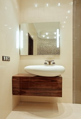 Bathroom Interior with wash-stand