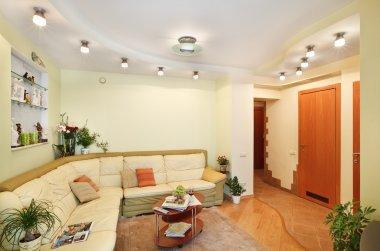 Drawing-room Interior in beige