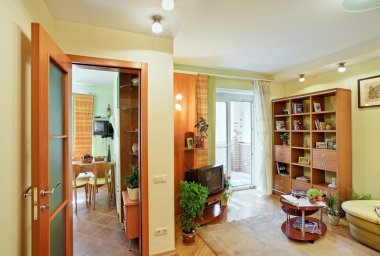 Living-room and Kitchen interior view