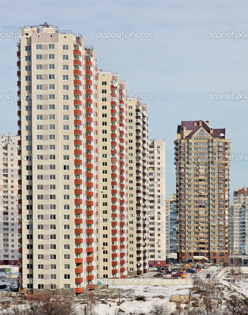New tall modern buildings
