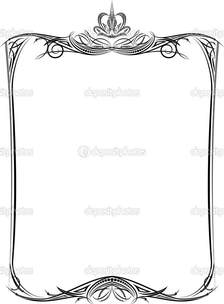 marco vintage con corona — Vector de stock © antonshpak #1074994