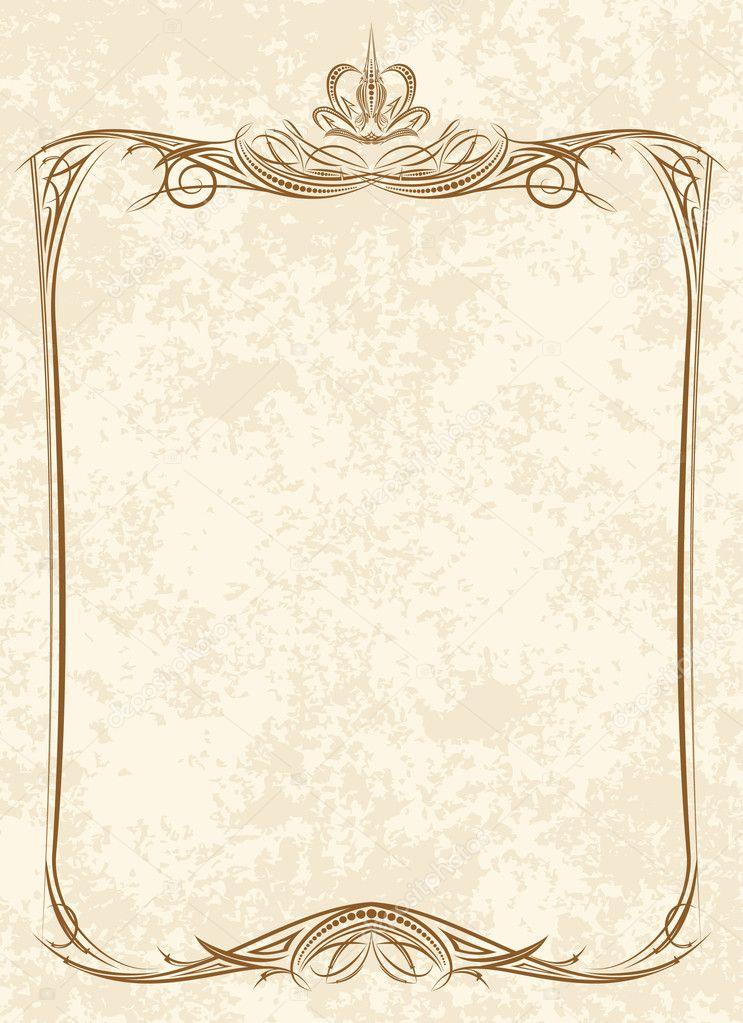 vintage frame with crown vector by antonshpak