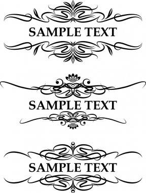 Vintage frames for text