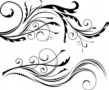 Decorative elements for design or tattoo