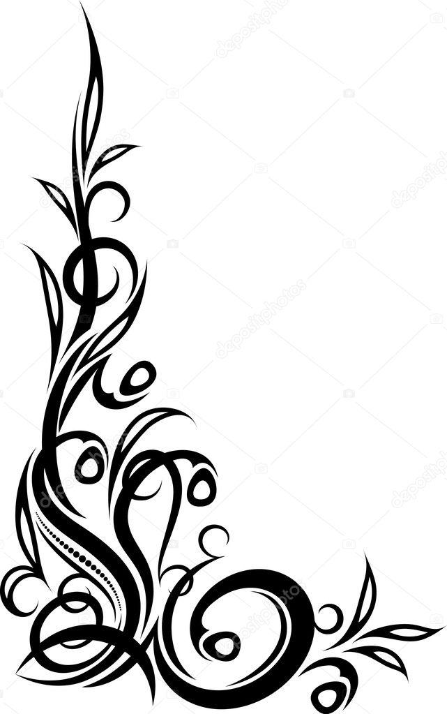 Original decorative corner — Stock Vector © antonshpak ...  Fancy