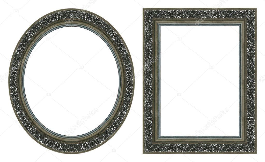 Ovale gold Bilderrahmen — Stockfoto © balaikin #1080709